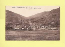 *  CPA..( 38 )..VALBONNAIS : Quartier De L' Eglise  - ( 2 Scans ) - Frankreich