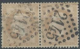 Lot N°21526   Variété/Paire Du N°28B, Oblit GC 2145 LYON(68), Filets SUD - 1863-1870 Napoleon III With Laurels