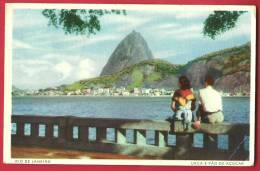 JPX-08 Rio De Janeiro  Urca E Pao De Açucar,Pain De Sucre.ANIME. Cachet 1951. No 65- Pli Angle Inf. Droit - Rio De Janeiro