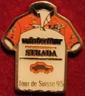TOUR DE SUISSE VELO 1995 - MAILLOT WINTERTHUR STRADA -  SCHWEIZ - CYCLISME - CYCLISTE - SUISSE         (ROUGE) - Radsport