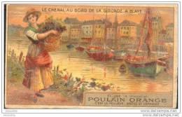 "Image "" Chocolat Poulain Orange "" Le Chenal Au Bord De La Gironde à Blaye 33 - Poulain"