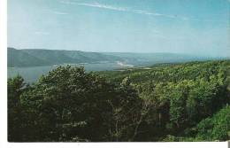 Panoramic View From St. Ann's Lookoff Of Englishtown Harbour In St. Ann's Bay, Cape Breton, Nova Scotia - Cape Breton