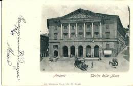 ANCONA  - TEATRO DELLE MUSE - F/P - V: 1902 - ANIMATA - CARROZZE - Ancona