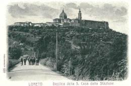 LORETO (AN) - BASILICA DELLA S. CASA DALLA STAZIONE - F/P - N/V - ANIMATA - Ancona