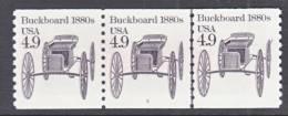 U.S. 2124 X 3   Plate 3  **   BUCKBOARD - Coils (Plate Numbers)