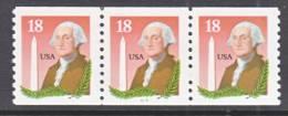 U.S. 2149  X 3   Plate 3333  **   WASHINGTON - Coils (Plate Numbers)