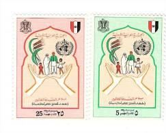 1974 - Libia 506/07 Giorn. Mondiale Sanità, - WHO