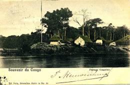 CONGO - 1901 , Dorf Am Fluss , Paysage Congolaise - Stempel: ANVERS , Nach Haarlem - Französisch-Kongo - Sonstige