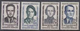 FRANCE.1958.YVERT Nº 1157/1160 .NEUF AVEC CHARNIÈRE. FR73 - Francia