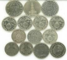 LOTTO GERMANIA REICH E REPUBBLICA FEDERALE 10 MONETE ARGENTO 4 NICHEL 1906-1974 - Germania