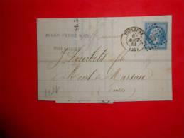 E30;lettre  DeToulouse,a Etudier.Verso Ambulants - 1853-1860 Napoléon III.