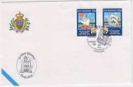 PGL BG004 - SAN MARINO SASSONE N°1643/44 FDC - FDC