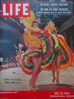 Magazine LIFE  JULY 25 , 1955 - INTER. ED.- LAS VEGAS - Voiture MORRIS MINOR - AUSTIN JUBILEE - JEEP WILLYS  (3031 - Nouvelles/ Affaires Courantes