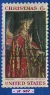 1968 - Amérique Du Nord - Etats-Unis - Noël - 6 C. Tableau De Jan Van Eyck - - Christmas