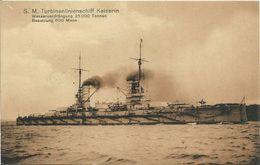 AK SM Turbinenlinienschiff Kaiserin 1916 Marine Schiffspost #136 - Guerra