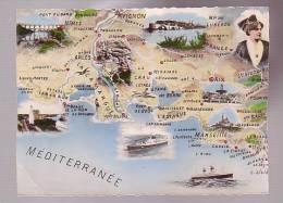 14 Mesiterranée Carte (plis Cotés Coupés ?) - Mapas