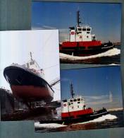 B0111 Waterloo Tug, 3 Photograhs (ship, Boat) - Tugboats