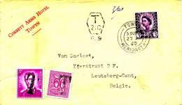 Grossbritannien - 1960 , Brief Nach Leuteberg-Gent Mit Nachporto - Portomarken