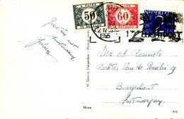 AMSTERDAM - 1955 , Karte Nach Antwerpen Mit Nachporto - Portomarken