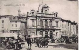 ST AMBROIX L'HOTEL DE VILLE  (MARCHE ANIME)  1917 - Saint-Ambroix