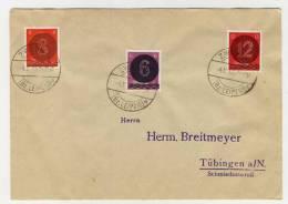 West Sachsen Michel No. AI - AIII gestempelt used auf Umschlag