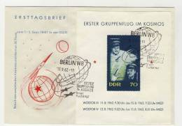 DDR Michel Block 17 gestempelt used auf Brief FDC