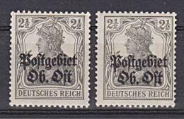 Postgebiet Oberbefehlshaber Ost Nr. 1(2) ** - Besetzungen 1914-18