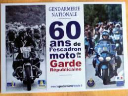 Carte 60 Ans Escadron Moto - Garde Républicaine Sur Le Tour De France Cyclisme 2012 - Cyclisme