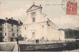 ANNECY EGLISE  SAINT FRANCOIS  CPA COLORISEE HOTEL DE SAVOIE - Annecy