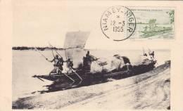 BARCA DELLA NIGERIA  VG 1955 BELLA FOTO D´EPOCA ORIGINALE 100% - Barche