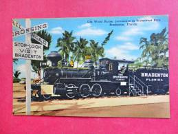 Train Old Wood Burner Locomotive Bradenton Fl-- Linen=====ef 812 - Eisenbahnen