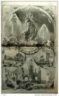 L´inauguration De L´exposition Universelle D´Anvers - Page Original - 1885 - Documents Historiques