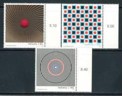 "SVIZZERA / HELVETIA 2010** - ""Optical Art"" - 3 Val. MNH (set Completo) Come Da Scansione - Arte"