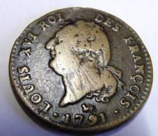 """Rare : Faux Monnayage D époque  """" 30 Sols Au Génie  """" A Voir Absolument !!! - 1789-1795 Monnaies Constitutionnelles"""