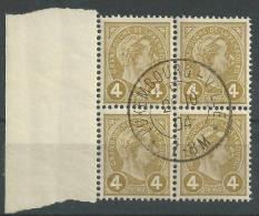 Luxembourg - Timbre G.-D. Adolphe De Profil,no. 71, Bloc De 4 Avec Bord - Blocchi & Foglietti