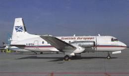 Scottish European Airways BAe HS &48 334 Sr 2A Aircraft Postcard (A24001) - 1946-....: Ere Moderne