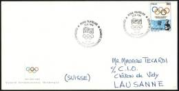 ITALY ROME 1994 - CENTENARY OF THE OLYMPIC INTERNATIONAL COMMITTEE - FDC - I.O.C. ENVELOPE - Ete 1996: Atlanta