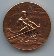 Sport Nautique Dela Meurthe - Médaille De Bronze Non Signée Début 1900 Dans Son Ecrin D Origine - Aviron
