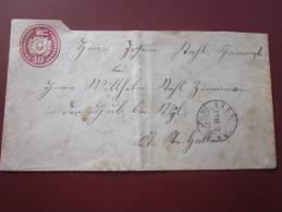 Entiers Postaux  Postal Gesamte >11 Mars 1872 :Stein De Winterthur Suisse Helvetia Lettre Cover>pour Wyl St Gall - Interi Postali