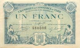Billet Réf 009. Chambre De Commerce Tarn - Un Franc - 22 Décembre 1917 - Chambre De Commerce