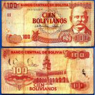 Bolivie 100 Bolivianos 2001 Loi De 1986  Uniquement Prix + Frais De Port Bolivia Bolivares Paypal Skrill OK - Bolivië