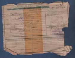 1918 - ORDRE DE TRANSPORT POUR ISOLE SANS BAGAGES ET SANS CHEVAUX - FEUILLE DE ROUTE - TOULOUSE BETHUNE PAR VOIE FERREE - Chemins De Fer