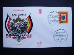 Berlin 385 FDC, 100. Jahrestag Der Reichsgründung - [5] Berlino