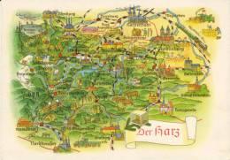 Der Harz - Landkaarten