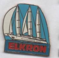 Superbe Pin´s En EGF , Marine Bateau Voilier , Elkron - Barcos