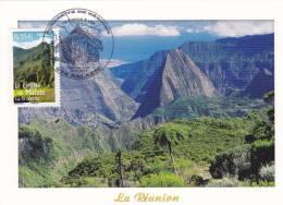 Carte-Maximum FRANCE N°Yvert 4170 (Cirque De MAFATE - Réunion) Obl Sp Ill  1er Jour - Maximum Cards