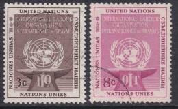 United Nations 1954 ILO MiNr 29-30 Used - New York -  VN Hauptquartier