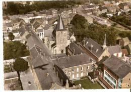 CP  BELGIQUE   4280  HANNUT   Vue  Aérienne  L'eglise  Et  L'ecole  Du  Sacré Coeur - Belgique
