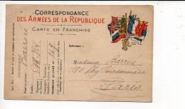 """CAD  """" Trésor Et Postes1915  """" Secteur Postal 149 En Franchise Militaire Pour Paris - Marcofilie (Brieven)"""