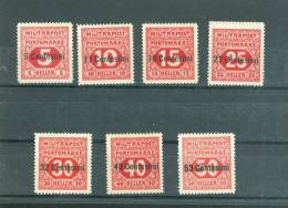Occupation Austro Hongroise En 1918 - Yvert  Taxe N° 1 / 7 * ( Charnière) - Az8503 - Austrian Occupation